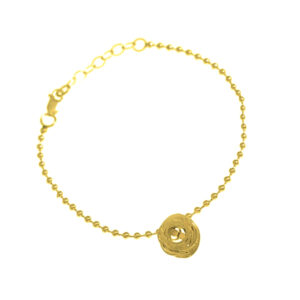 YSA-BA06g Brace-Ripple-Ballchain-Gold
