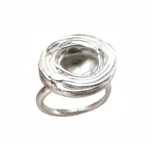 YSA-R19S Ring-Pond Ripple-Disk-Silver01