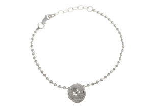 Yuki S Assiter_Pond Ripple-Ball Chain Bracelet-Silver