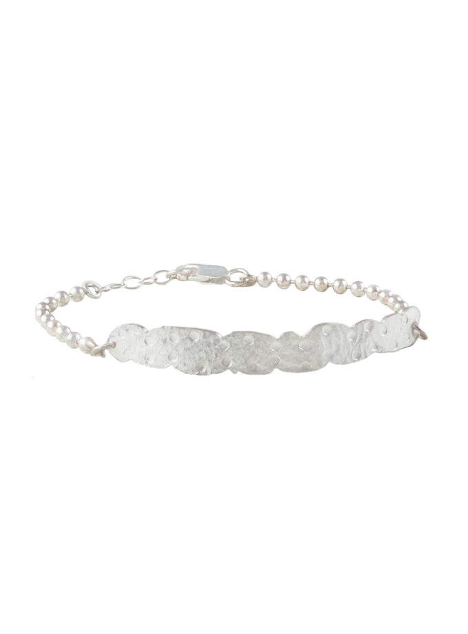 Recycled Lace Bar Bracelet_ S