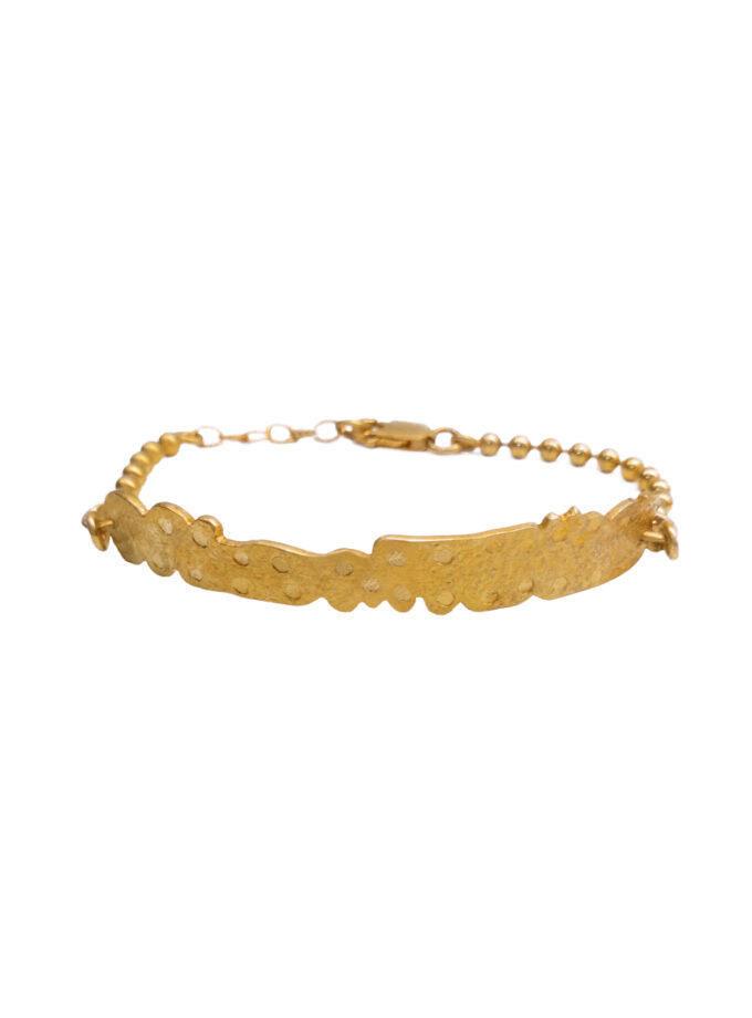 Recycled Lace Bar Bracelet_ YG