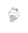Recycled Textured Rutilated Quartz Brooch S