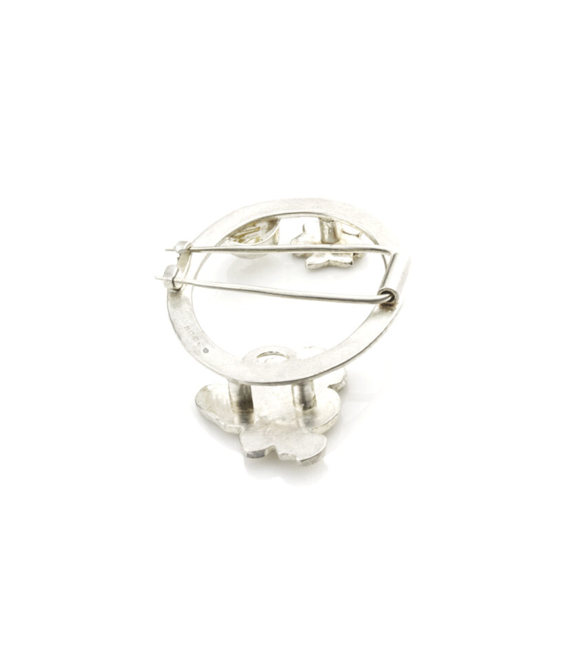 Recycled Textured Rutilated Quartz Brooch S 2
