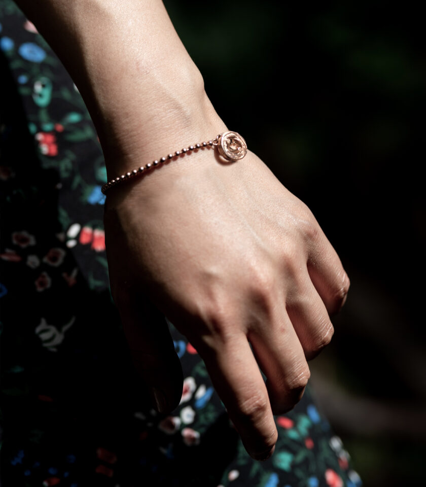 Pond Ripples_Ball Chain Bracelet_ RG 02