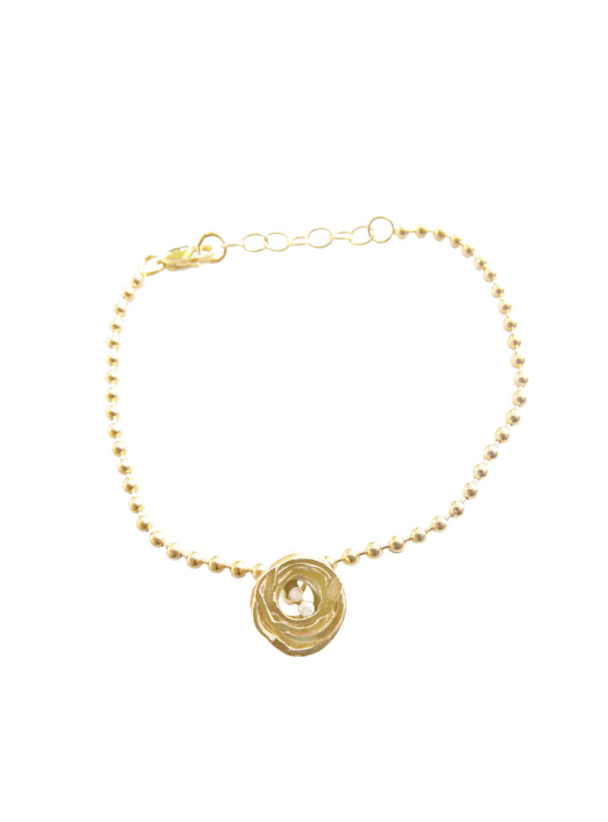 Pond Ripples_Ball Chain Bracelet_ YG
