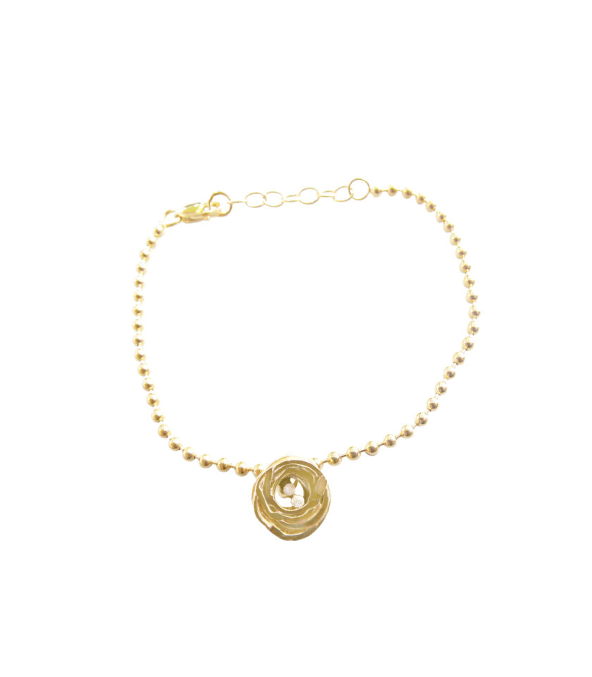 Pond Ripples_Ball Chain Bracelet_ YG