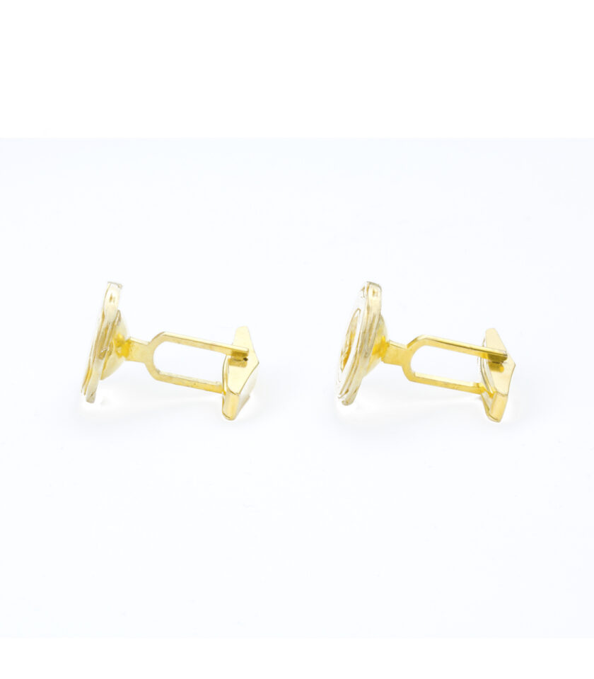 Pond Ripples_Disk Cufflinks_YG 02