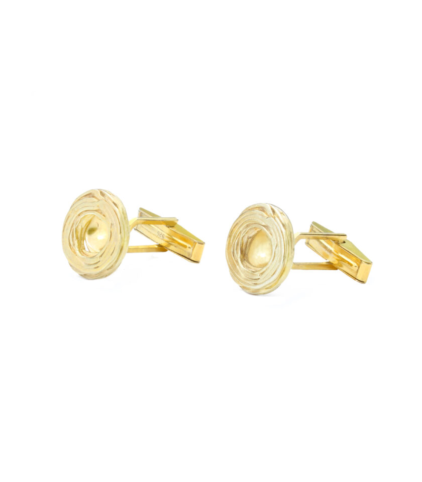 Pond Ripples_Disk Cufflinks_YG
