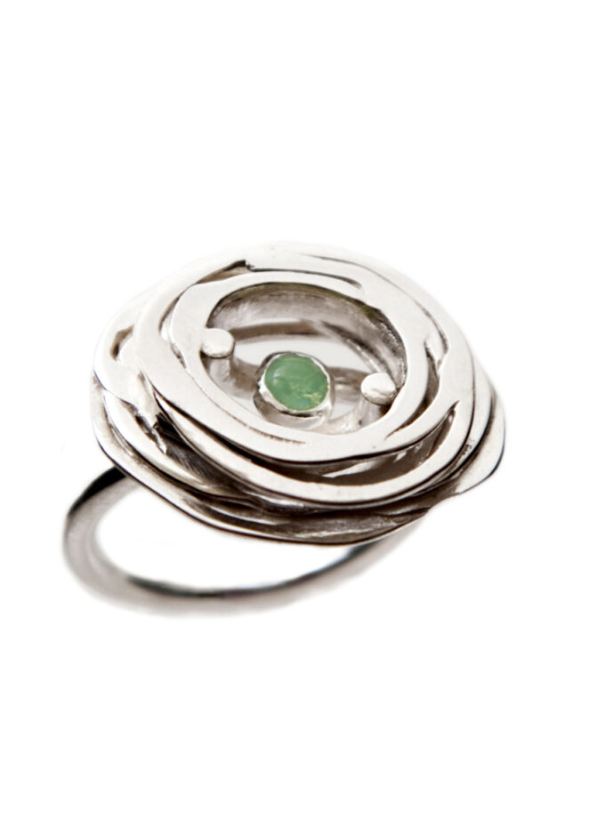 Pond Ripples_Ring with G stone