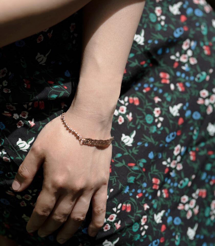 Recycled Lace Bar Bracelet_ RG 02