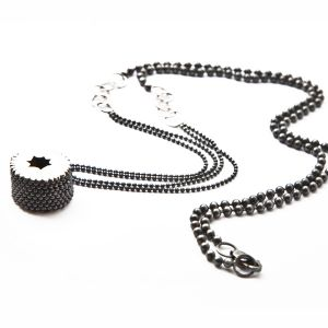 Barnacle Chain Necklace/ sterling silver _*private collection