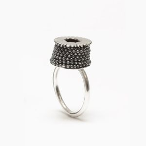Barnacle Chain Ring/ sterling silver _*private collection