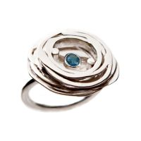 +Stone Ring_Blue/ sterling silver and blue topaz