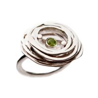 +Stone Ring_Green/ sterling silver and peridot