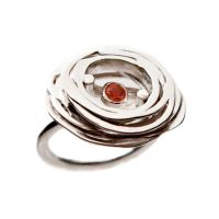+Stone Ring_Red/ sterling silver and garnet