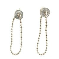 Ear_Ripple Tiny with ball chainl_Silver